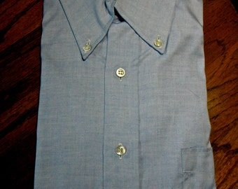 Vintage Sulka Oxford Blue Shirt