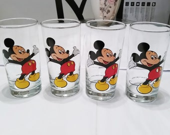 Mickey Mouse Glasses by Walt Disney Company Set of 4