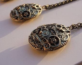 Vintage Style Bronze Locket Necklace