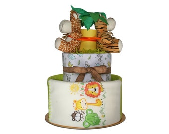 FUNNY SAFARI Nappy cake
