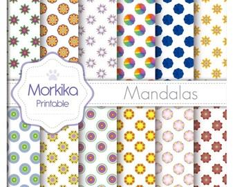 Digital Paper Mandala