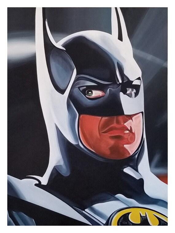 Michael Keaton as Batman 12 x 16 Pop Art Print