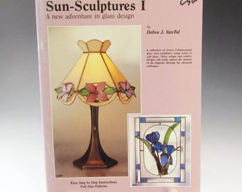 Stained Glass Pattern Book - Vintage 1987 - Sun-Sculptures 1 - by Debra VanTol