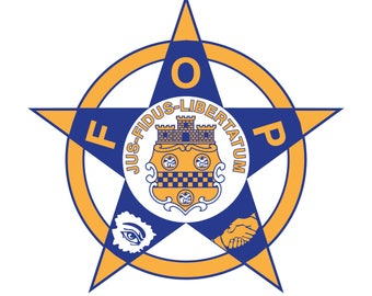 FOP Fraternal order of police. SVG File