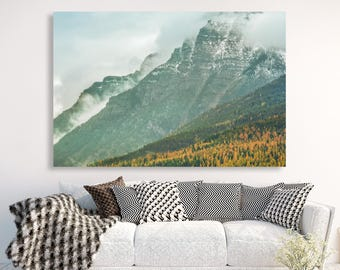 "large canvas wall art, large wall art, large colorful landscape wall art, landscape on canvas, large art, mountain landscape, art - ""Ascent"""