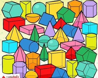 Math Art Idea: 3D Geometric Shapes - Babble Dabble Do