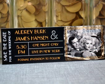 save the date music concert ticket magnet