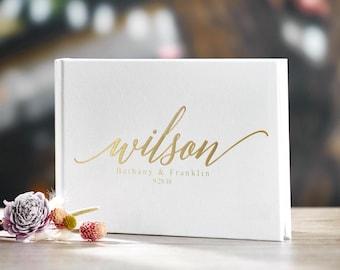 Gold Foil Wedding Guest Book Alternative Custom Wedding Guestbook Rustic Guest Book Unique Wedding Guest Book Gold Foil Ideas Book #19