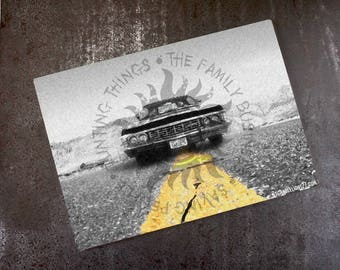 The family business - Saving People - Hunting Things - 67 Impala - Supernatural - Glass Chopping Board