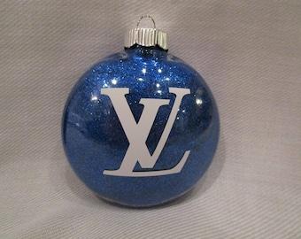 Custom Glittered Designer Inspired Ornament ROYAL BLUE