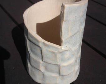 Mosaic pattern ceramic pencil holder