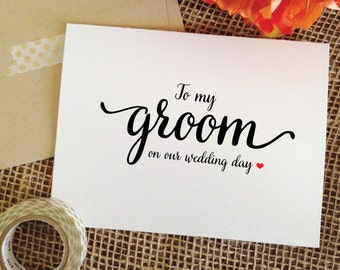 Wedding Card for Groom Gift from bride to Groom card for Groom on wedding day gift to groom on Wedding Day Cards to my groom card