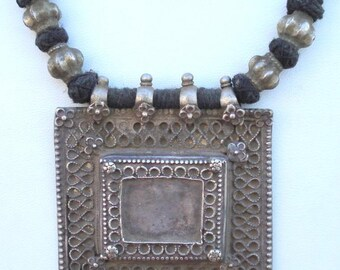 Ancient Belly Dance Tribal Old Silver Necklace Pendant