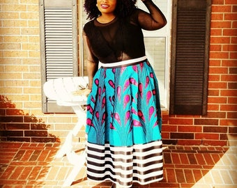 Beautiful high waisted, mix&match skirt.