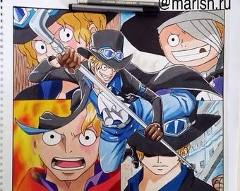 Sabo From One piece Drawing