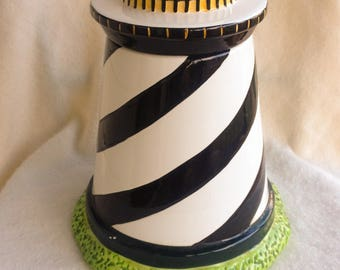 Vintage Ceramic Lighthouse Cookie Jar FREE SHIPPING!