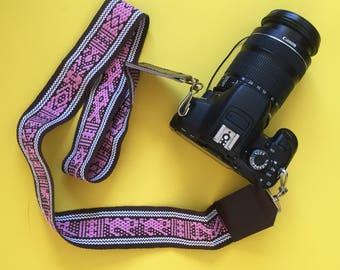 Hand Woven Camera Strap, DSLR Camera Strap, Handmade Camera Strap, Guitar Strap