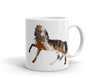 Horse Fluid Art Coffee Mug - Unique Artistic Horse Mug - Horse Coffee Cup - Abstract Art Horse Mug - Horse Lover's Gift - Horse Cup - Art