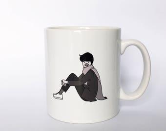 Cute mug cup, Kotoridanshi mug, limited edition