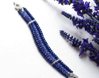 Bracelet made of sapphire, tanzanite & 925 silver