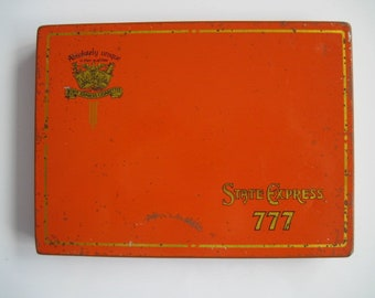 State Express 777  cigarette tin (50/empty) - By Ardath  c.1940/50