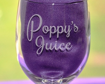 Personalized Juice Cup for Grandpa or Grandma's birthday, Great Father's or Mother's Day Gift