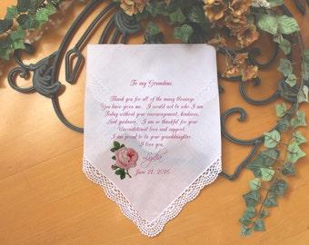 Grandma Handkerchief gift from the Bride-Weddings-PRINT-CUSTOMIZED-Wedding Hankies-Grandmother Gift-Grandma Hankerchief-Bride Gift-FCAC[10]