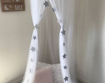 Bed Canopy, sheer bed canopy, play tent, reading tent, princess tent, sheer canopy