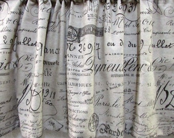 VALANCE in French Script unlined  50x20