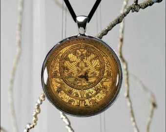 Unique Astrolabe Necklace Vintage Style Custom Made Fashionable Design Metal Pendant Durable Jewelry - 2 sizes available