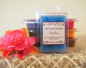 Beach House Scented Wax Melts / Scented Clamshell Wax Melts / Scented Wax Melts / Wax Cubes / Highly Scented Wax Melts / Candle Melts