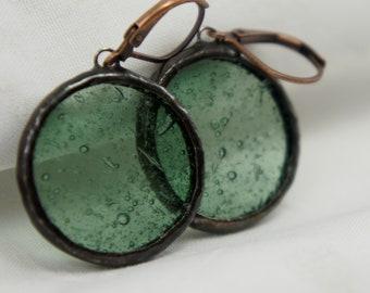 Bubble glass earrings