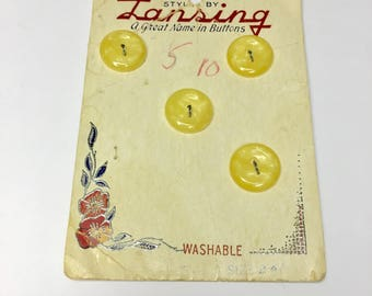 Vintage Lansing Buttons, Buttons, Vintage Buttons, Notions, Sewing Notions, Sewing