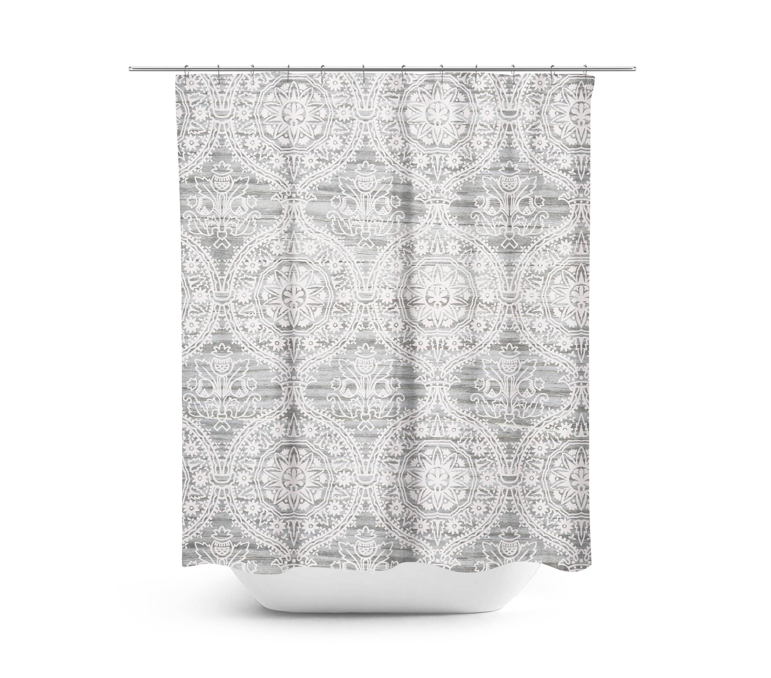 Farmhouse Shower Curtain Gray Bathroom Rustic White And Decor For Master Bath