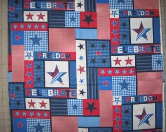 Patriotic Collage Celebrate Freedom Stars 1 yard