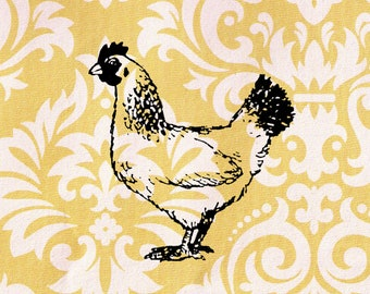 Chicken Stamp: Wood Mounted Rubber Stamp