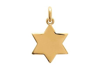 Plated 6-pointed star pendant gold