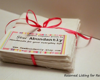 Reserved listing for Renee: Sentiment Quilt Kit with embroidered customization