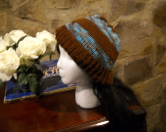 Rivers and Woods Hand-knit Hat, Ready to Ship