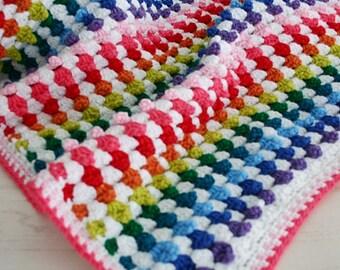 Crochet Blanket Pattern, Cuppy Cakes Blanket, Baby, Afghan
