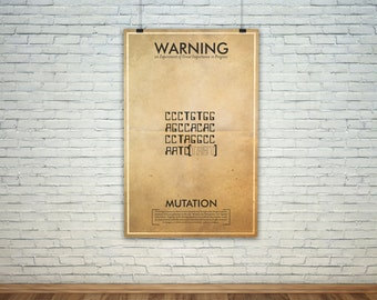 Vintage Fringe Science Warning Poster // Mutation Inspired Wall Art for the Budding Mad Scientist