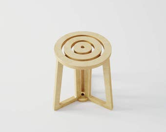 Stool / Seat / Backless stool / Round stool / Designer stool / Plywood tabouret
