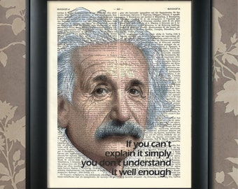 Einstein Print, Einstein Quote, Einstein Poster, Einstein art, Einstein wall art, Einstein Decor, Albert Einstein, Scientist, Relativity