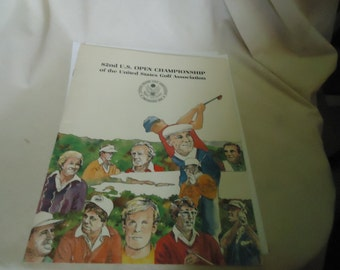 Vintage 1980's 82nd U.S. Open Championship Of The United States Golf Association Magazine Brochure Arnold Palmer On The Back, collectable