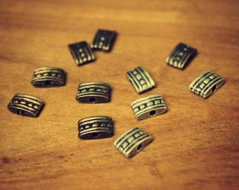 Brass ethnic beads