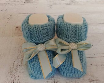 Crochet,knitting,crochet booties,knittied booties,boys booties,blue booties,gift newborn,gift booties,booties for newborn,boy outfit,newborn