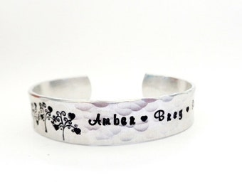 Personalized Children's Name Bracelet - Hand Stamped Bracelet - By Timeless Maiden