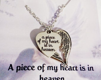 Memorial Jewelry Heart Necklace Gift for her Sympathy Gift Memorial Gift Remembrance Gift Bereavement Gift