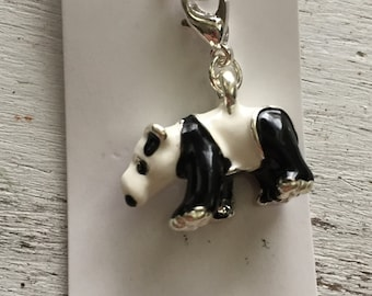 Panda Bear Charm with Lobster Claw Clasp
