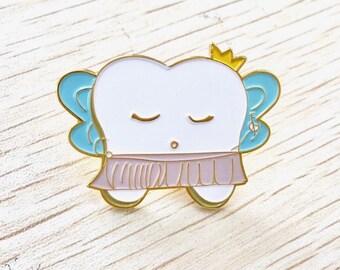 Princess Prophy Enamel Pin - Lilac Paper Dental Tooth Hygiene School Student Cute